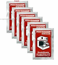 PULY  BABY CLEANER DESCALER DOMESTIC ESPRESSO COFFEE MACHINE 6 SACHETS  OF 30 GR