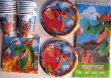 DRAGONS Birthday Party Supply Set Pack Kit for 16