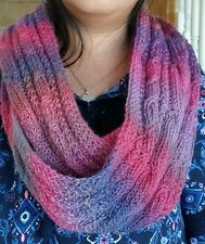 hand-knitted elegant wool  infinity cable scarf