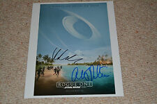 ALISTAIR PETRIE & VALENE KANE signed Autogramm IP 20x25 STAR WARS ROGUE ONE