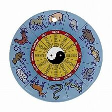 Chinese Zodiac Round Calendar 12 Animals Christmas Tree Ornament Ornaments New!