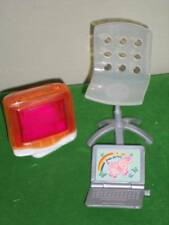 Barbie Computer Office Chair Laptop Lot
