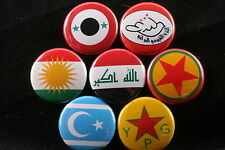 Lot Iraq Iraqi Northern Offensive 2014 Syria Kurdistan Communist Pin Button ISIS