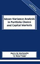 Mean-Variance Analysis in Portfolio Choice and Capital Markets, William F. Sharp