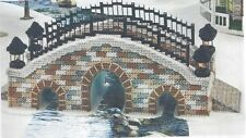 "Craft Kit ""Arched Bridge""  Christmas White Plastic Canvas  Yarn Included"