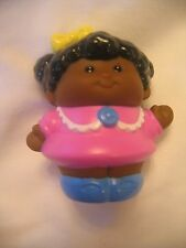 NEW! LITTLE TIKES CUTE AFRICAN AMERICAN GIRL in PINK for Little People Figure
