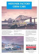 1992 Renault Midliner Crew Cab Truck Brochure England t3013-HCC23H