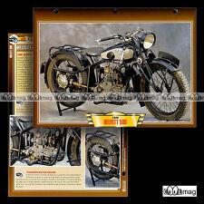 #123.10 Fiche Moto HELYETT 500 1929-1932 JAP Classic Motorcycle Card