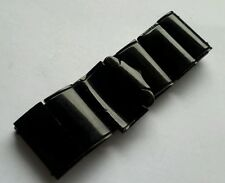 "Antique victorian 1890's Whitby jet bracelet jewellery.  7 "" x 1  ""."