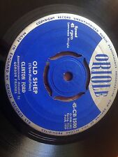 """CLINTON FORD ( ELVIS COVER ) ORIOLE 7"""" CB 1500 OLD SHEP / NELLIE DEAN ROCK VG/VG"""