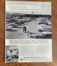 1958 New York Life Insurance Ad Modern Whole Life Policy Meets Lifetime's Change