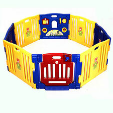 New Baby Playpen Kids 8 Panel Safety Play Center Yard Home Indoor Outdoor