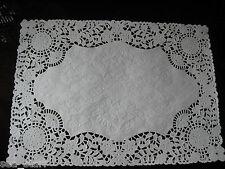 40 pcs ❤PLACEMAT FANCY WHITE PAPER VICTORIAN FLOWER WEDDING LACE DOILIES TABLE