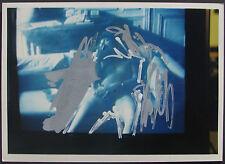Mario SCHIFANO ( Homs Libia 1934 - Roma 1998 ) Tecnica Mista su foto ARCHIVIATA