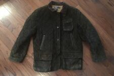 POLO Ralph Lauren Men's VTG Circa 70s Quilted Suede Jacket RARE Olive Green XL
