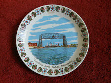 Vintage Duluth MN Minnesota Aerial Airial Lift Bridge Plate Made in Norway