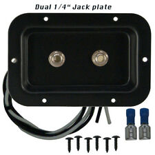 "Speaker jack plate with 2 Switchcraft 1/4"" connectors for PA or Guitar cabinets"