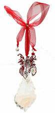 KIRKS FOLLY CANDY CANE FAIRY CRYSTAL ORNAMENT silvertone