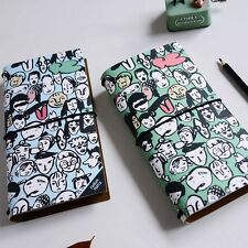 """Fashion People"" Cardboard Cover Diary Cute Planner Journal Travel Notebook Memo"