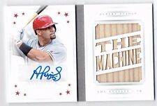 Albert Pujols 2016 Panini National Treasures Auto/Autograph Bat Booklet /2