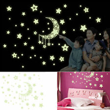 Removable Night Glow In The Dark Decal Nursery Kids Room Decor Stickers