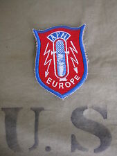 AFN Europa Armate Forze Radio Network Corrispondente Patch