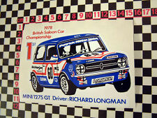 1978 Race Sticker for Mini 1275GT Clubman - Special Tuning British Leyland BL