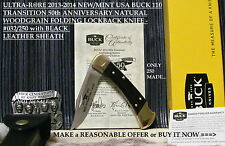 2013-14 ULTRA-RARE N/M #032/250 BUCK BU110T SMKW 50th ANNIVERSARY LOCKBACK KNIFE