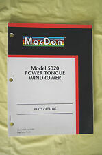 MacDon Model 5020 Power Tongue Windrower parts catalog manual 2001 Canada