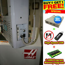 USB Converter + Prog Memory for ALL Haas Machines with Floppy Drive *USA SELLER*