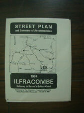 VINTAGE 1974 ILFRACOMBE HOLIDAY TOURIST BROCHURE STREET PLAN   03
