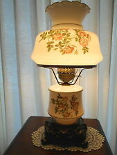 VINTAGE HURRICANE, GONE WITH THE WIND STYLE  FLORAL LAMP, BASE LIGHT. MINT!