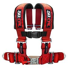 Red 2 Inch Safety Harness 4 Point Can-Am Maverick Max X MR Commander MaxX UTV