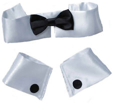 Collar Black Bow Tie Cuff Set Chippendale Stripper Playboy Bunny Costume