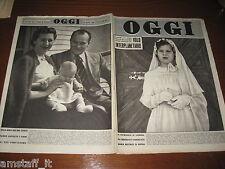 RIVISTA OGGI 1952/18=MARIA BEATRICE DI SAVOIA=ERIO CODECA=FILM CARNET DI BALLO