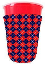 Coolie Junction Argyle Pattern Solo Cup Coolie, Neoprene Collapsible Bottom