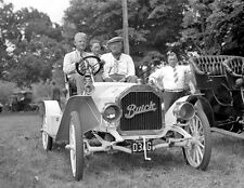 1910 Right hand drive Buick open with father and sons 8 x 10 Photograph