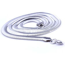 316L Stainless Steel Men's 54CM Long 6MM Width Man Chain Necklace MN4