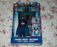 Justice League Unlimited Crime Bust Batman Figure Mint/Sealed DC Comics Mattel