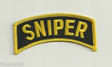 """ARMY SNIPER SHOULDER ROCKER TAB EMBROIDERED MILITARY 4""""  PATCH"""