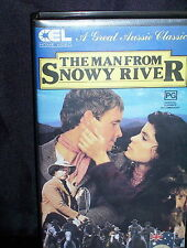 THE MAN FROM SNOWY RIVER – KIRK DOUGLAS, JACK THOMPSON - VHS VIDEO