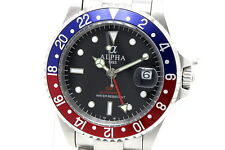 ALPHA  Watch GMT Pepsi Bezel Black Dial Automatic Movement