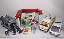 Playmobil joblot Hospital medical centre Ambulances Police Figures Incomplete