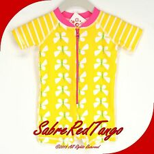 NWT HANNA ANDERSSON SWIMMY RASH GUARD BABY SWIM SUIT YELLOW BUTTERFLY 60 2-6 M
