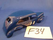 F34 WOW VINTAGE 1/24 SCALE SLOT CAR THIN BLUE PLASTIC BODY SHELL