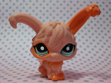 Littlest Pet Shop LPS #1911 Peach Rosa Angora Bunny Rabbit con Occhi Blu