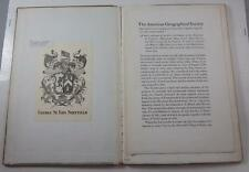 AMERICAN GEOGRAPHICAL SOCIETY 1922 LTD ED ACCOUNT FIRST SETTLEMENT PROVINCES MAP