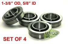 """4-PACK, FLANGED BEARINGS 1-3/8"""" OD x 5/8"""" ID, CARTS, SHELVES, OUTDOOR EQUIPMENT"""