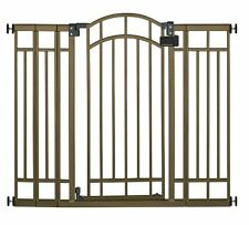 SUMMER INFANT Multi Use Deco THRU GATE, Metal Tall BABY GATE, 7600, Bronze