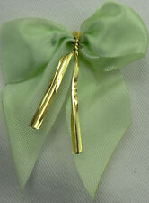 LIME READYMADE BOW>6.5cm 50 PCS>WOW<CRAFT/FLORIST>FREEpp>BRILLIANT VALUE4MONEY